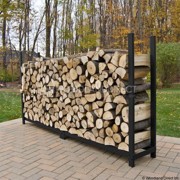 Woodhaven Black Firewood Rack - 8' image number 2