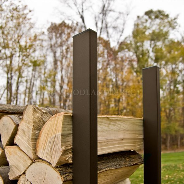 Woodhaven-Brown-Outdoor-Firewood-Rack-16'-alt-A image number 1
