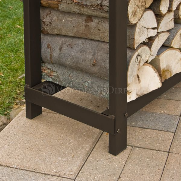 Woodhaven-Brown-Outdoor-Firewood-Rack-16'-alt-B image number 2