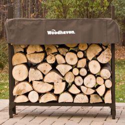 Woodhaven Brown Firewood Rack - 3'