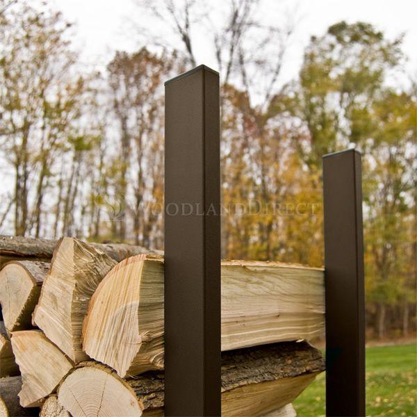Woodhaven Brown Firewood Rack - 4' image number 1