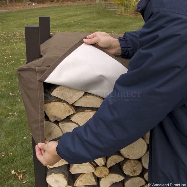 Woodhaven Brown Firewood Rack - 4' image number 4