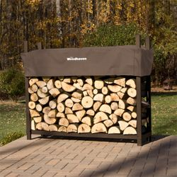 Woodhaven Brown Firewood Rack - 4'