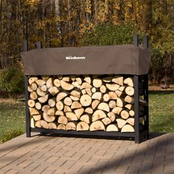 Woodhaven Brown Firewood Rack - 5'