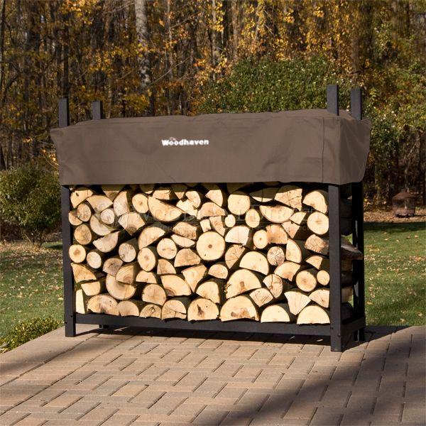 Woodhaven Brown Firewood Rack - 5' image number 0