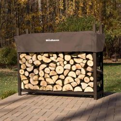 Woodhaven Brown Firewood Rack - 6'