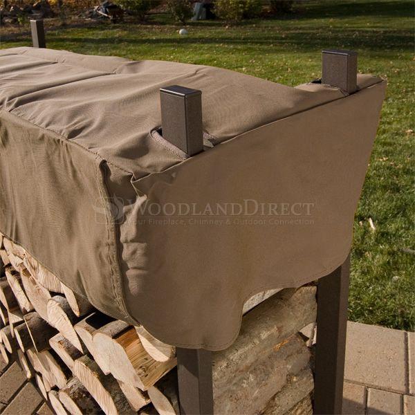 Woodhaven Brown Firewood Rack - 8' image number 2