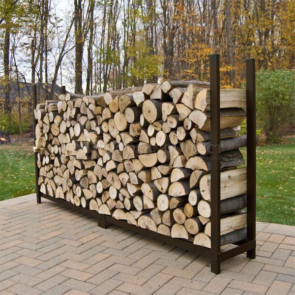 Woodhaven Brown Firewood Rack - 8' image number 3