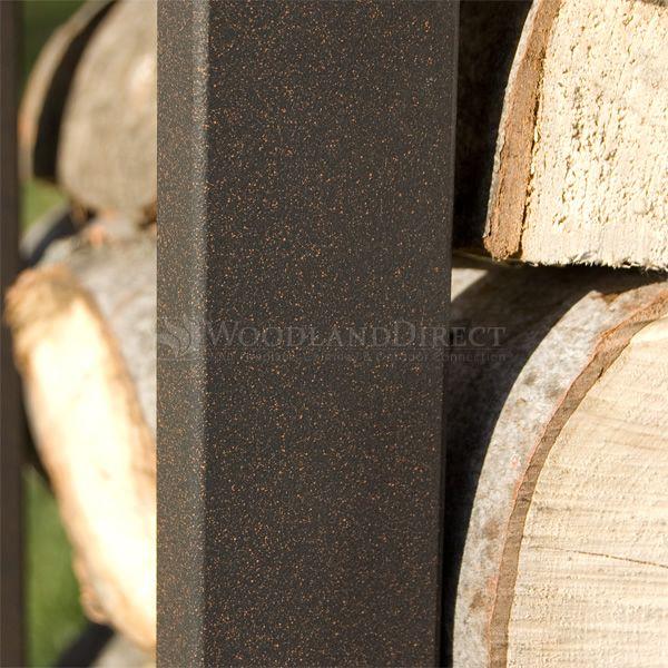 Woodhaven Brown Firewood Rack - 8' image number 4