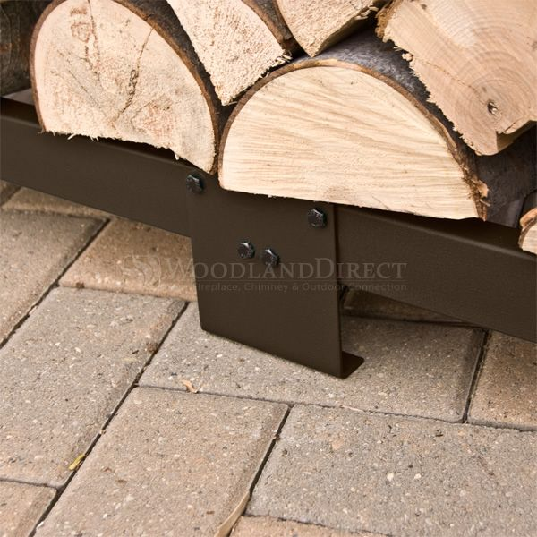 Woodhaven Brown Firewood Rack - 8' image number 6