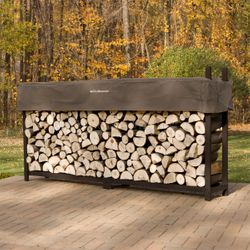 Woodhaven Brown Firewood Rack - 8'