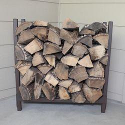 Woodhaven Brown Indoor/Outdoor Firewood Rack - 2'
