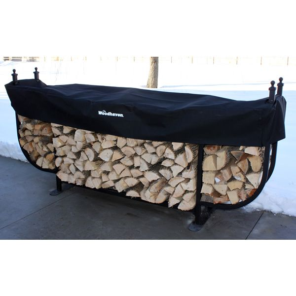 Woodhaven Courtyard Firewood Rack with Standard Cover image number 1
