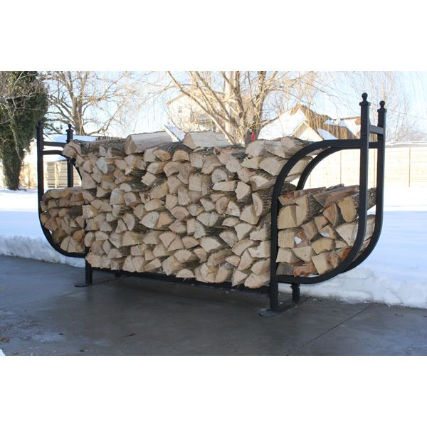 Woodhaven Courtyard Firewood Rack with Standard Cover image number 2