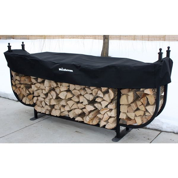 Woodhaven Courtyard Firewood Rack with Standard Cover image number 3