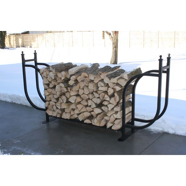 Woodhaven Courtyard Firewood Rack with Standard Cover image number 4