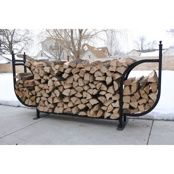Woodhaven Courtyard Firewood Rack with Standard Cover image number 0