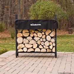 Woodhaven Black Firewood Rack - 3'