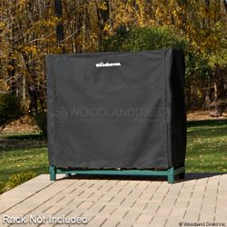 Woodhaven Black Firewood Rack Full Cover - 4'