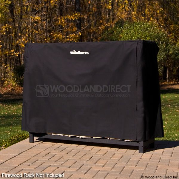Woodhaven Black Firewood Rack Full Cover - 5' image number 0