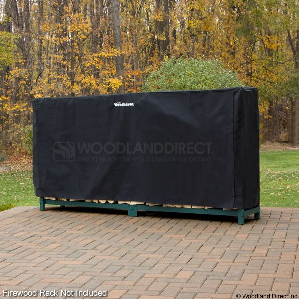 Woodhaven Black Firewood Rack Full Cover - 8' image number 0