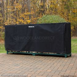 Woodhaven 10ft Firewood Rack Cover - Black