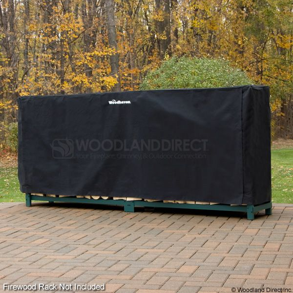 Woodhaven Black Firewood Rack Full Cover - 10' image number 0