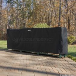 Woodhaven 12ft Firewood Rack Cover - Black