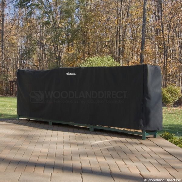 Woodhaven Black Firewood Rack Full Cover - 12' image number 0