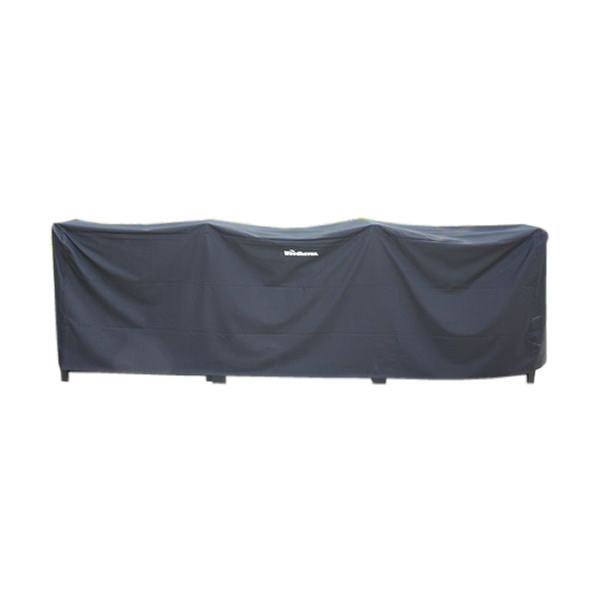 Woodhaven Black Fire Wood Rack Full Cover - 16' image number 0