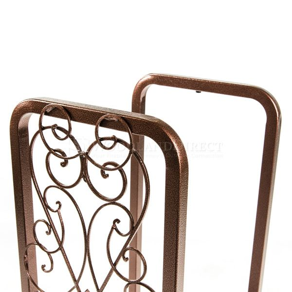 Woodhaven Fireside Rack with Drawer - Copper Vein image number 1