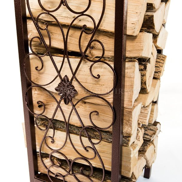 Woodhaven Fireside Rack with Drawer - Copper Vein image number 2