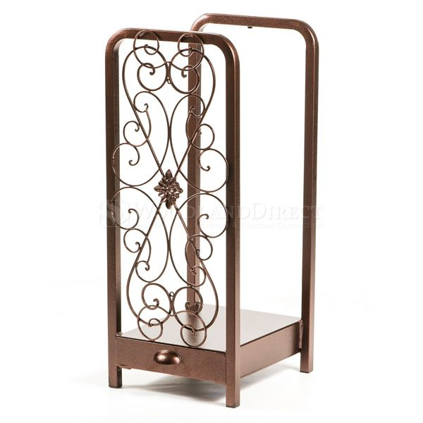 Woodhaven Fireside Rack with Drawer - Copper Vein image number 4