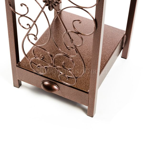 Woodhaven Fireside Rack with Drawer - Copper Vein image number 5
