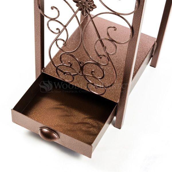 Woodhaven Fireside Rack with Drawer - Copper Vein image number 6
