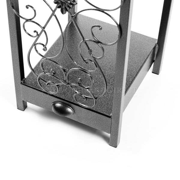 Woodhaven Fireside Rack with Drawer - Black image number 5