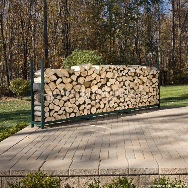 Woodhaven Green Firewood Rack - 12' image number 2