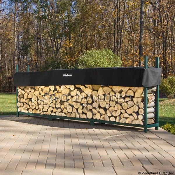 Woodhaven Green Firewood Rack - 12' image number 0