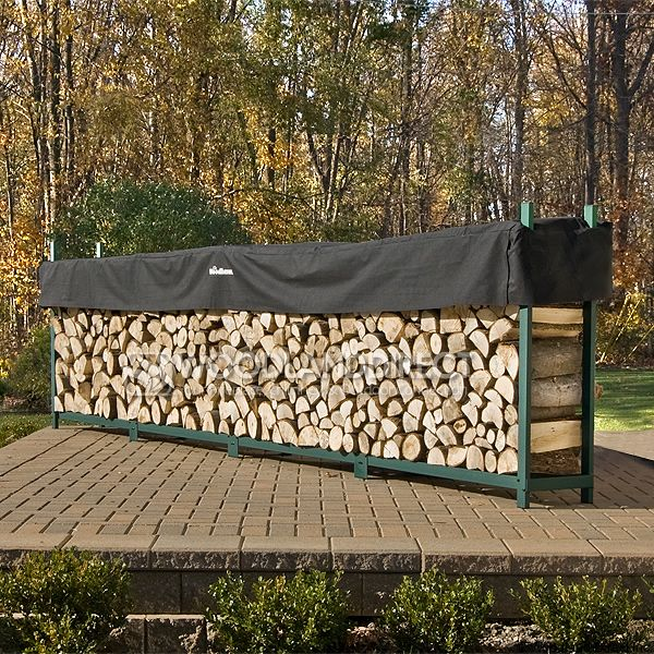 Woodhaven Green Firewood Rack - 16' image number 0