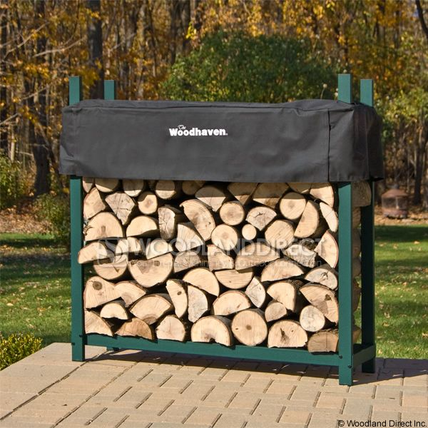 Woodhaven Green Firewood Rack - 4' image number 0