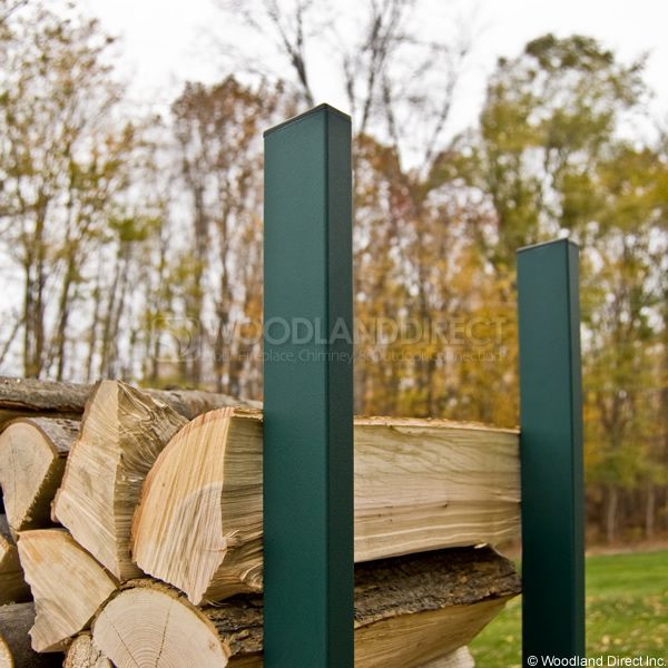 Woodhaven Green Firewood Rack - 8' image number 1