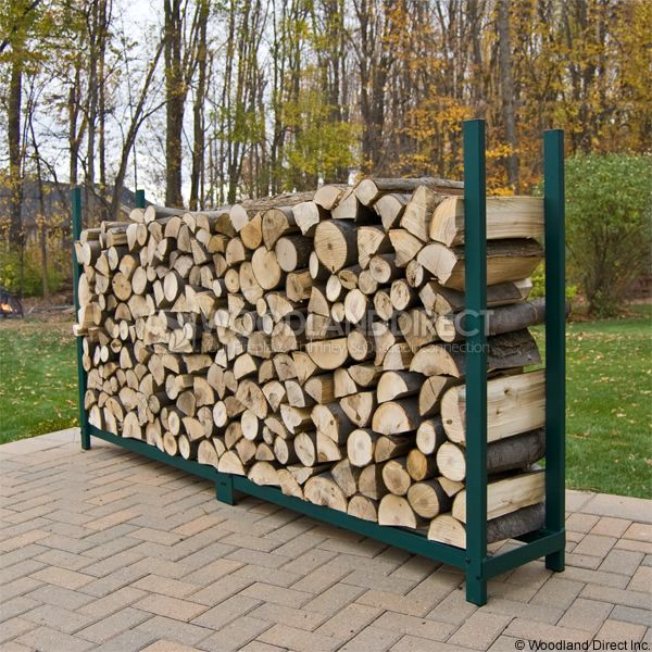 Woodhaven Green Firewood Rack - 8' image number 2
