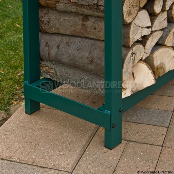 Woodhaven Green Firewood Rack - 8' image number 3