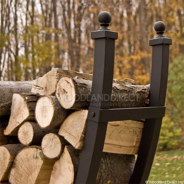 Woodhaven Large Crescent Firewood Rack image number 1