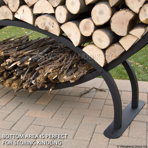 Woodhaven Large Crescent Firewood Rack image number 3