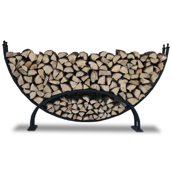 Woodhaven Large Crescent Firewood Rack image number 4