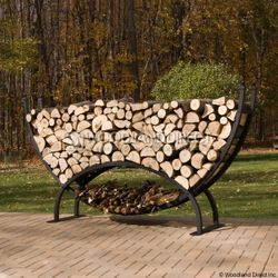 Woodhaven 8' Crescent Firewood Rack