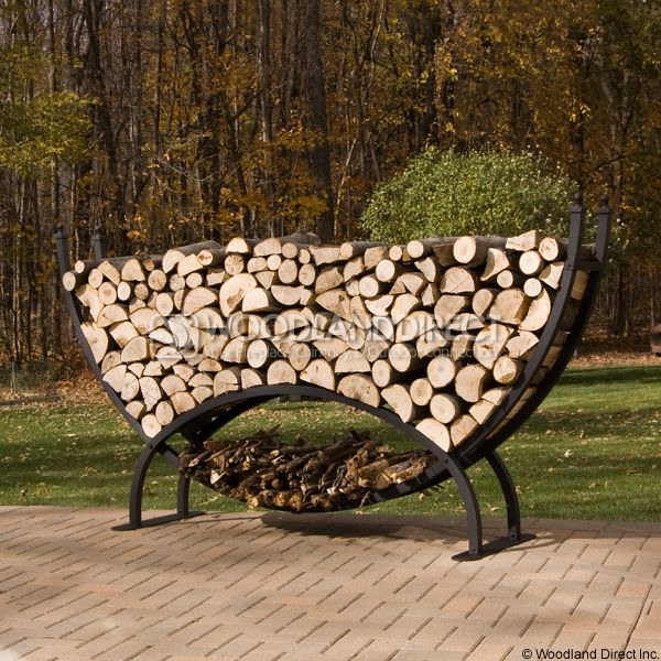 Woodhaven Large Crescent Firewood Rack image number 0