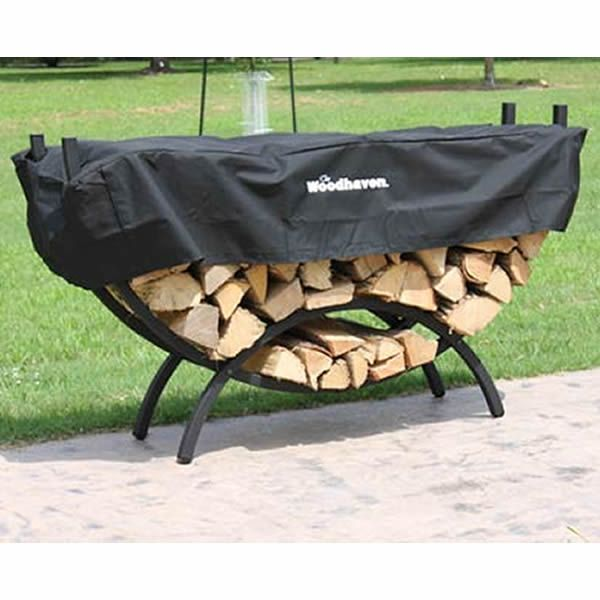 Woodhaven Small Crescent Firewood Rack image number 0