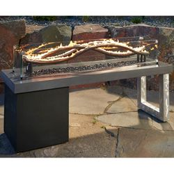 Wave Gas Fire Pit Table